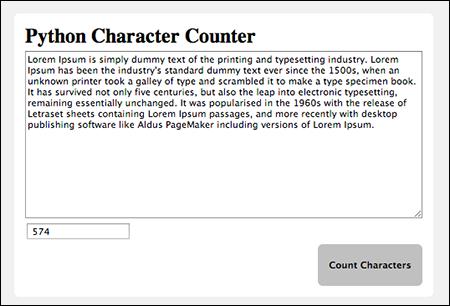 Python Character Counter